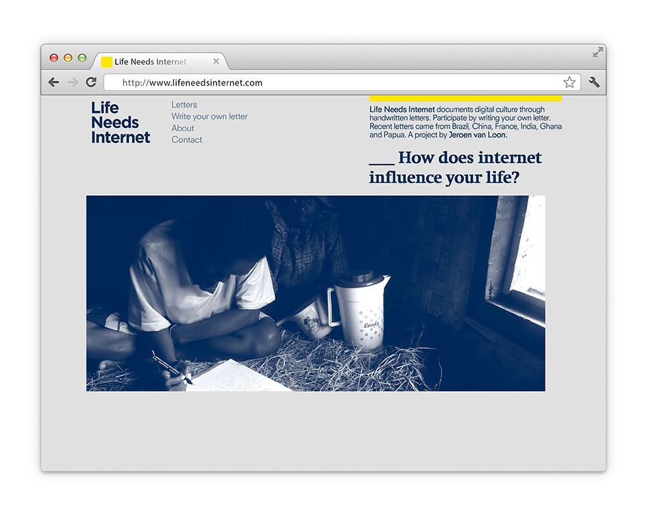 Life Needs Internet website